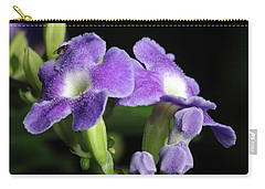 Carry-all Pouch featuring the photograph Fruit Fly On Golden Dewdrop by Richard Rizzo