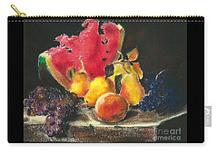 Carry-all Pouch featuring the pastel after Lilly Martin Spencer by Jodie Marie Anne Richardson Traugott          aka jm-ART