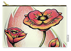 Vibrant Flower 1 Poppy Carry-all Pouch