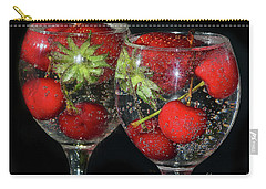 Carry-all Pouch featuring the photograph Fruits In Glass by Elvira Ladocki