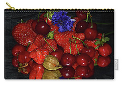 Carry-all Pouch featuring the photograph Fruits With Flower by Elvira Ladocki
