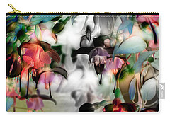 Fuchsia Abstract Carry-all Pouch by Stuart Turnbull
