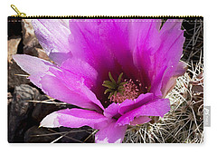 Carry-all Pouch featuring the photograph Fuchsia Cactus Blossom by Phyllis Denton