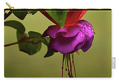 Carry-all Pouch featuring the photograph Fuchsia Fuchsia by Ann Bridges