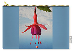 Fuchsia In The Sky. Carry-all Pouch by Terence Davis