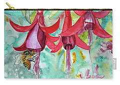 Fuchsia Carry-all Pouch by Jasna Dragun