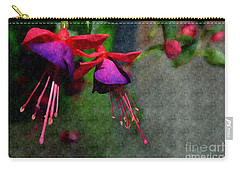 Fuchsia's Beating As One Together -silk Edit Carry-all Pouch