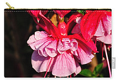 Fuchsias With Droplets Carry-all Pouch by Kaye Menner