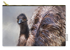 Carry-all Pouch featuring the photograph Full Feather by Robin-Lee Vieira