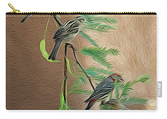 Carry-all Pouch featuring the photograph Full House Op17 by Mark Myhaver