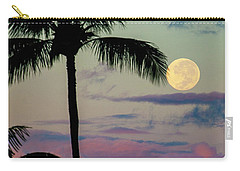 Full Moon And Palm Trees Carry-all Pouch