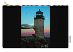 Full Moon At Marshall Point Lighthouse Carry-all Pouch by Diane Diederich