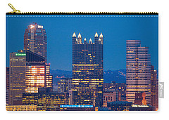 Carry-all Pouch featuring the photograph Full Moon At  Pittsburgh  by Emmanuel Panagiotakis