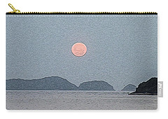 Full Moon At The Beach Carry-all Pouch