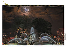 Full Moon At The Fountain Carry-all Pouch by Lynn Sprowl