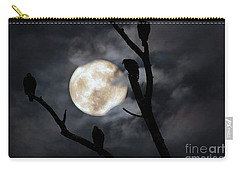 Carry-all Pouch featuring the photograph Full Moon Committee by Darren Fisher