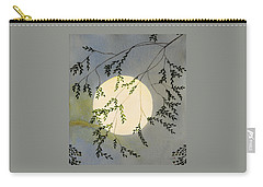 Moon And Tree Branch Painting Carry-all Pouch