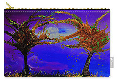 Full Moon Fall Night Painting Carry-all Pouch