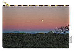 Carry-all Pouch featuring the photograph Full Moon Horizon by Tom Singleton