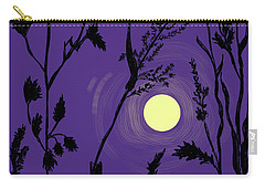 Full Moon In The Wild Grass Carry-all Pouch