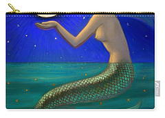 Full Moon Mermaid Carry-all Pouch by Sue Halstenberg
