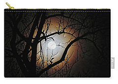Full Moon Oil Painting Carry-all Pouch