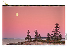 Carry-all Pouch featuring the photograph Full Moon Over Maine  by Emmanuel Panagiotakis