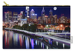 Full Moon Over Philly Carry-all Pouch by Frozen in Time Fine Art Photography