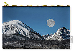 Full Moon Over Silverthorne Mountain Carry-all Pouch