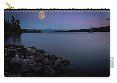 Full Moon Over The Lake Carry-all Pouch