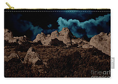 Full Moon Over White Pocket Carry-all Pouch by Anne Rodkin