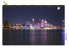 Full Moon Panorama Carry-all Pouch by Frozen in Time Fine Art Photography