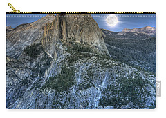 Full Moon Rising Behind Half Dome Carry-all Pouch
