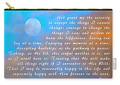 Carry-all Pouch featuring the photograph Full Moon Serenity Prayer Digital by Floyd Snyder