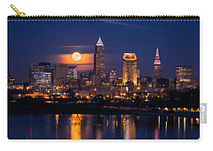 Full Moonrise Over Cleveland Carry-all Pouch