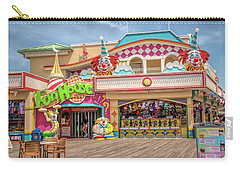 Carry-all Pouch featuring the photograph Fun House On The Point Pleasant Boardwalk by Kristia Adams