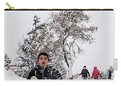 Carry-all Pouch featuring the photograph Fun On Snow-2 by Okan YILMAZ