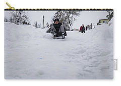 Carry-all Pouch featuring the photograph Fun On Snow-3 by Okan YILMAZ