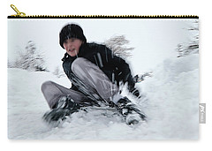 Carry-all Pouch featuring the photograph Fun On Snow-4 by Okan YILMAZ
