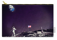 Carry-all Pouch featuring the digital art Fun On The Moon by Methune Hively