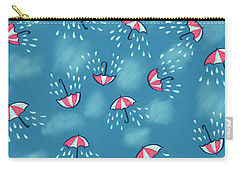 Fun Raining Umbrella Pattern Carry-all Pouch