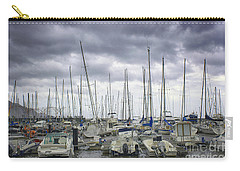 Carry-all Pouch featuring the photograph Funchal Marina by Lynn Bolt