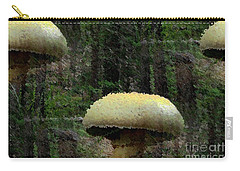 Fungi In The Woods Carry-all Pouch by Natalie Ortiz