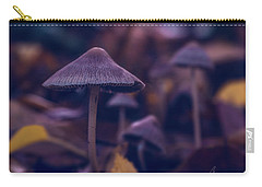 Carry-all Pouch featuring the photograph Fungi World by Gene Garnace