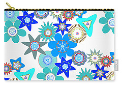 Funky Flower Pattern Carry-all Pouch by Methune Hively