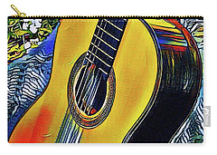 Funky Guitar Carry-all Pouch by The Art of Alice Terrill
