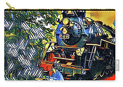 Funky Locomotive Steam Engine Carry-all Pouch by The Art of Alice Terrill