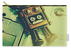 Funky Mixtape Robot Carry-all Pouch by Jorgo Photography - Wall Art Gallery