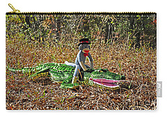 Carry-all Pouch featuring the photograph Funky Monkey - Reptile Rider by Al Powell Photography USA