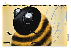 Carry-all Pouch featuring the painting Funny Bee by Veronica Minozzi